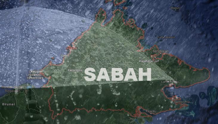 Hujan Lebat & Ribut Petir Dijangka Berlaku Di Beberapa Daerah Di Sabah Sehingga Malam Ini